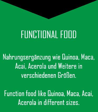 BIO Super Fodd, Nahrungsergänzung und Functional Food