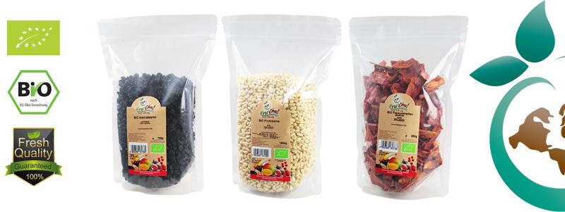 Trockenfrüchte bio und Nüsse bio